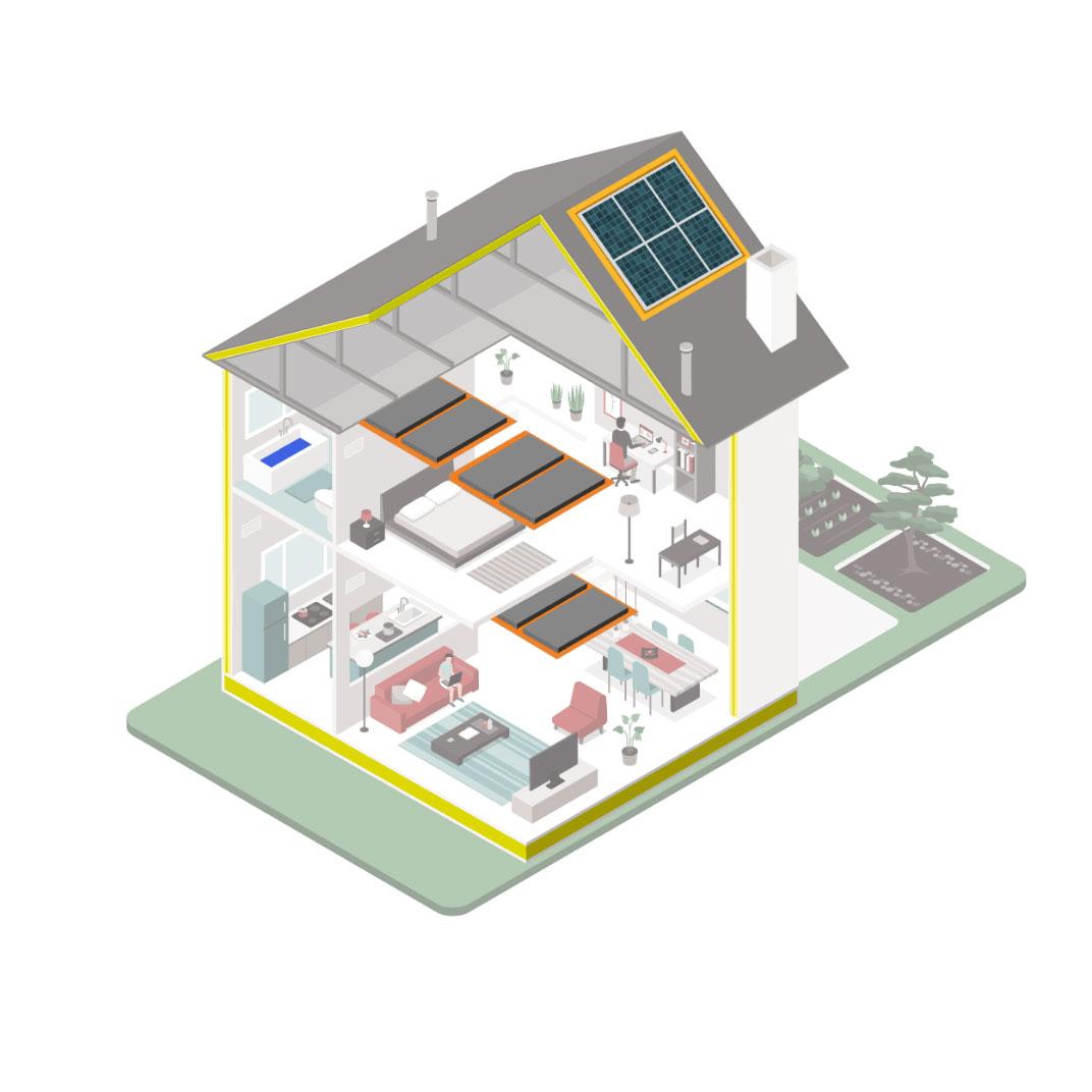 duurzaam wonen met warmtepomp